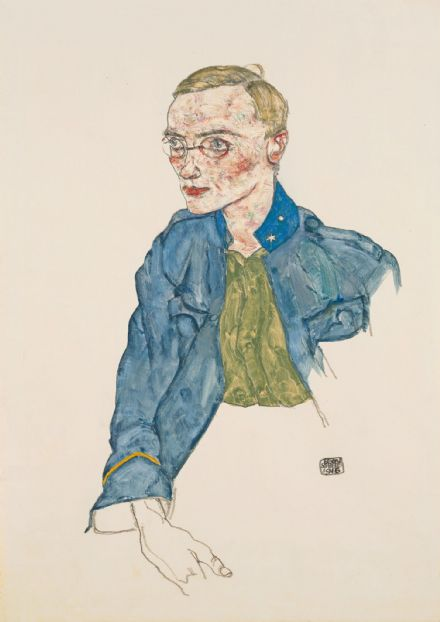 Schiele, Egon: One-Year Volunteer Lance-Corporal. Fine Art Print/Poster. Sizes: A4/A3/A2/A1 (003701)